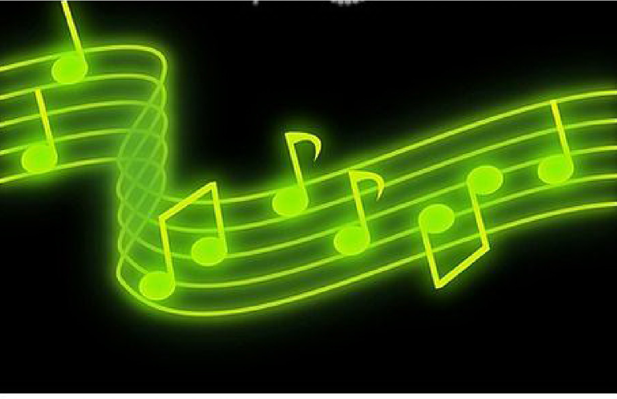 Green Music Notes Background 4