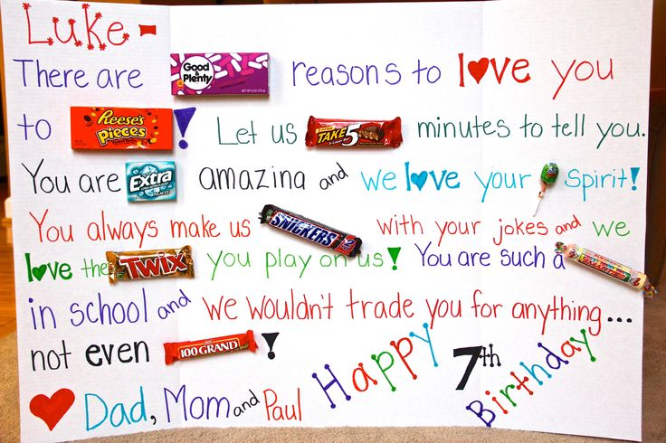 Happy Birthday Candy Poster Ideas 6