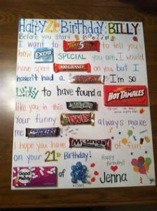 Happy Birthday Candy Poster Ideas 9 224×300