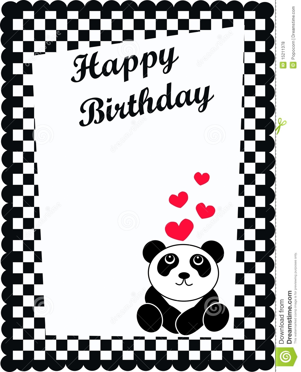 BlackStriped Birthday Cards Crafthubs – Black and White Birthday Card