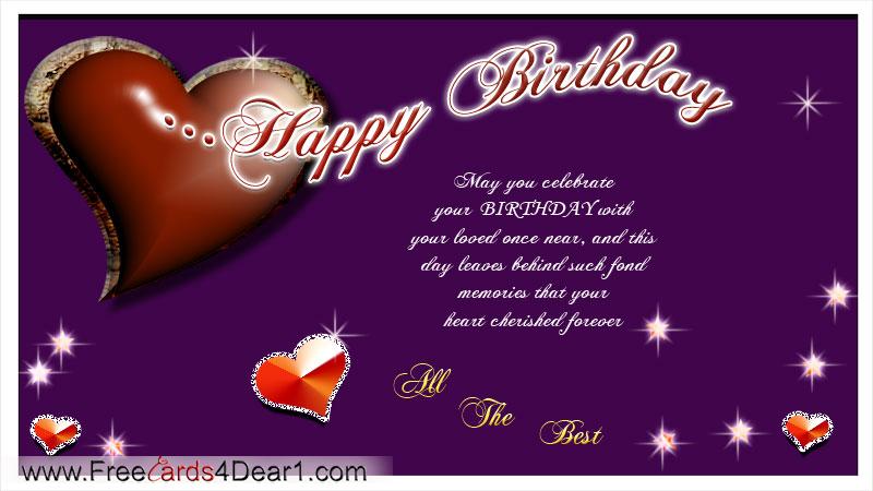 Greeting card birthday for love – 123 Birthday Cards Free