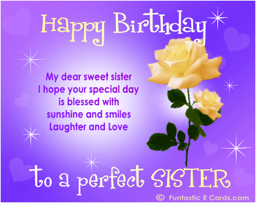 Happy Birthday Greeting Cards For Sister 2