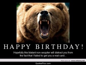 Happy Birthday Grizzly Bear 4 300×225