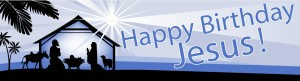 Happy Birthday Jesus Banner 3 300×81