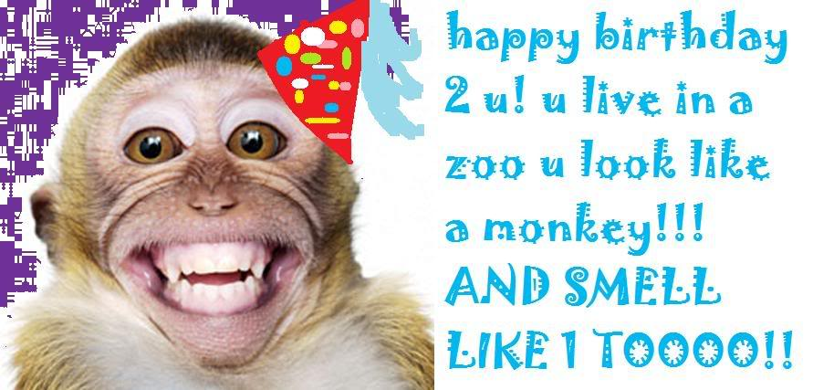 Monkeys Saying Happy Birthday - Bing images
