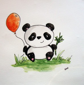 Happy Birthday Panda Bear 15 296×300