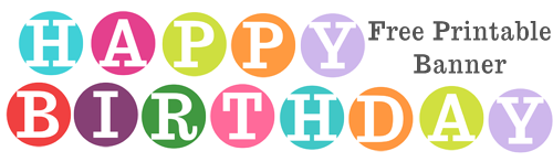 Happy Birthday Poster Printable 1