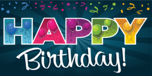 Happy Birthday Poster Template 3 300×150