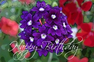 Happy Birthday Purple Flower Images 3 300×200