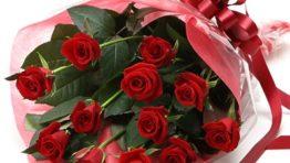 Happy Birthday Red Flowers