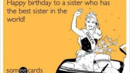Happy Birthday Sister Ecard