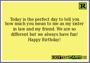 Happy Birthday Sister In Law Ecards 8 300×210