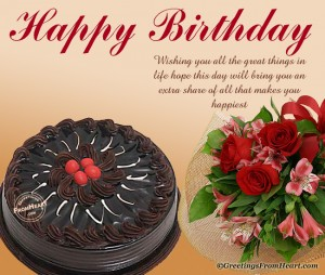 Happy Birthday Wishes Images Flowers And Cakes 11 300×254