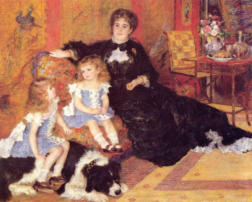 Madame Georges Charpentier and Her Children Georgette Berthe and Paul Emile Charles