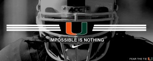 Miami Hurricanes Football Wallpaper 2 300×120