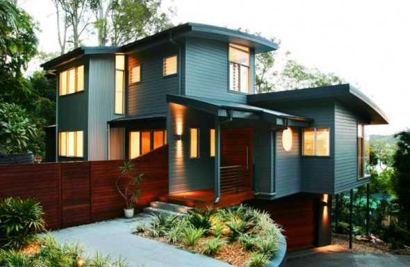 Modern Home Exterior Wallpaper 15