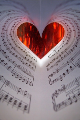 Music Notes Heart Wallpaper 5