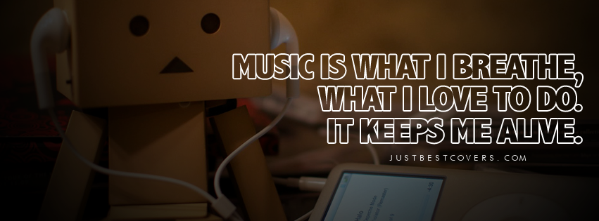 Music Quotes And Sayings Facebook Cover 1