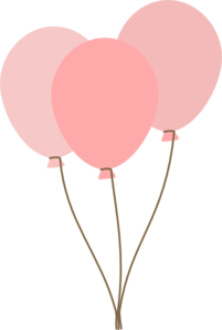 Pink Birthday Balloons Clip Art 1