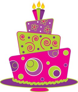 Pink Birthday Cake Clip Art 7 256×300