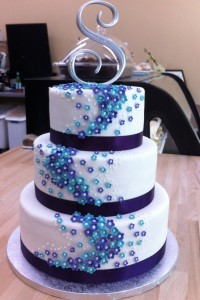 Purple And Blue Wedding Cakes 2 200×300