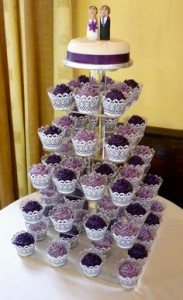 Purple Cupcake Wedding Cakes 1 183×300