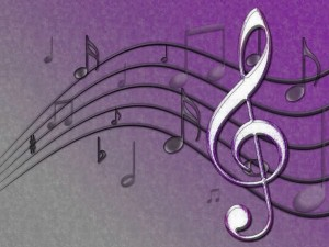Purple Music Notes Wallpaper 2 300×225