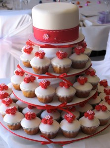 Red Cupcake Wedding Cakes 1 223×300