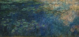 Reflections of Clouds on the Water Lily Pond 300×141