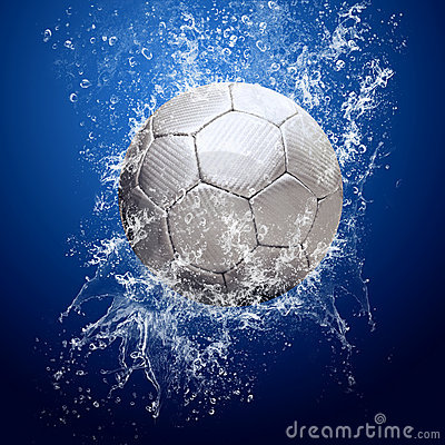 Soccer Balls On Water 1
