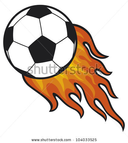 Soccer Balls With Flames 3