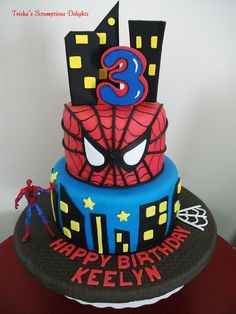Spiderman Birthday Cake 1
