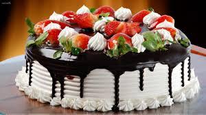 Strawberry Chocolate Cake Happy Birthday 5
