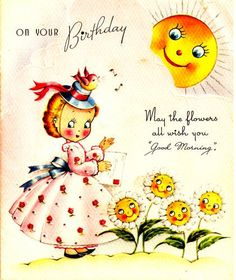 Vintage Happy Birthday Flower Images 5
