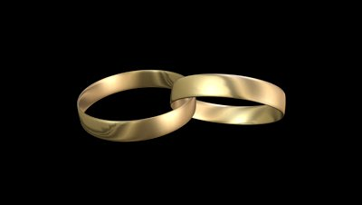 Wedding Rings Black Background 7