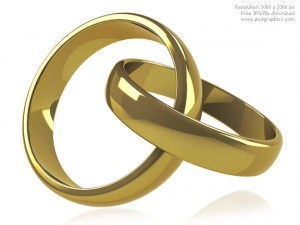 Wedding Rings White Background 5 300×225