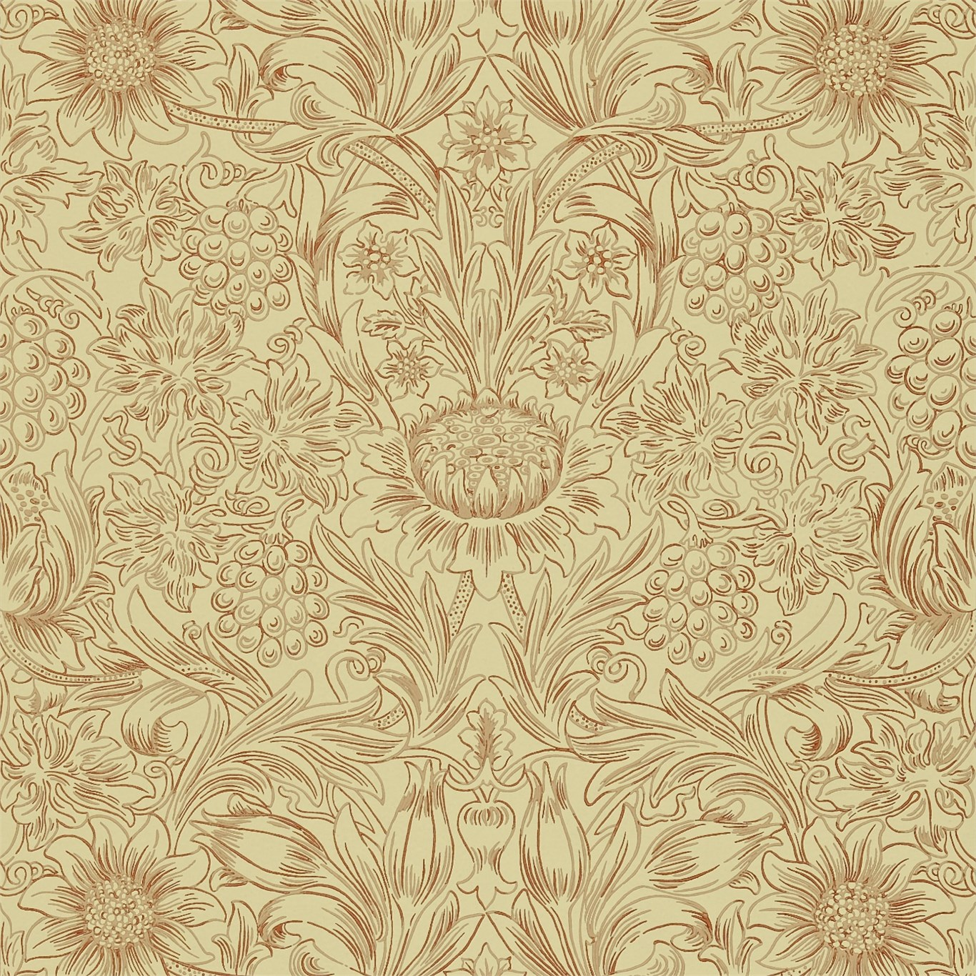 William Morris Sunflower Wallpaper 6