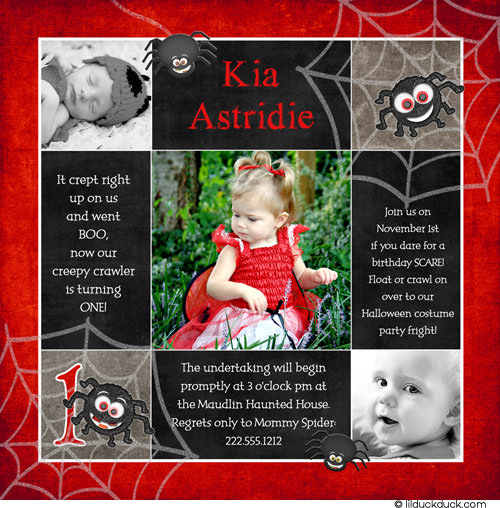 1st Birthday Halloween Invitations 16
