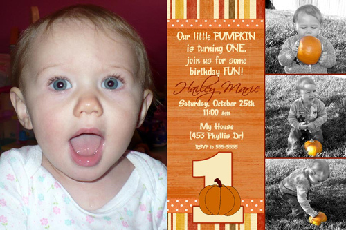 1st Birthday Halloween Invitations 3