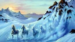 Ice Mountain Horses