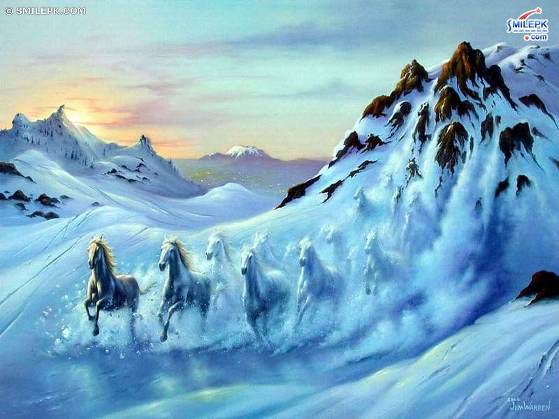 Ice Mountain Horses