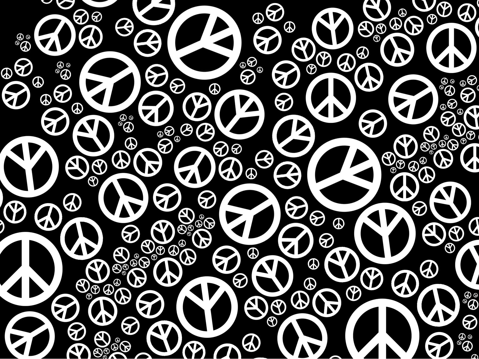 Black And White Peace Symbol Backgrounds 1