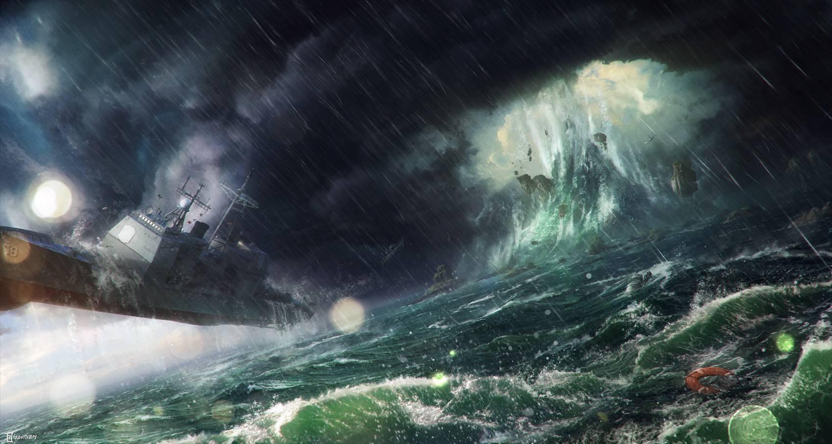 image gallery ocean storm wallpaper