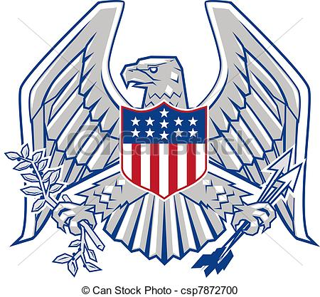 Patriotic Clip Art Eagle 1