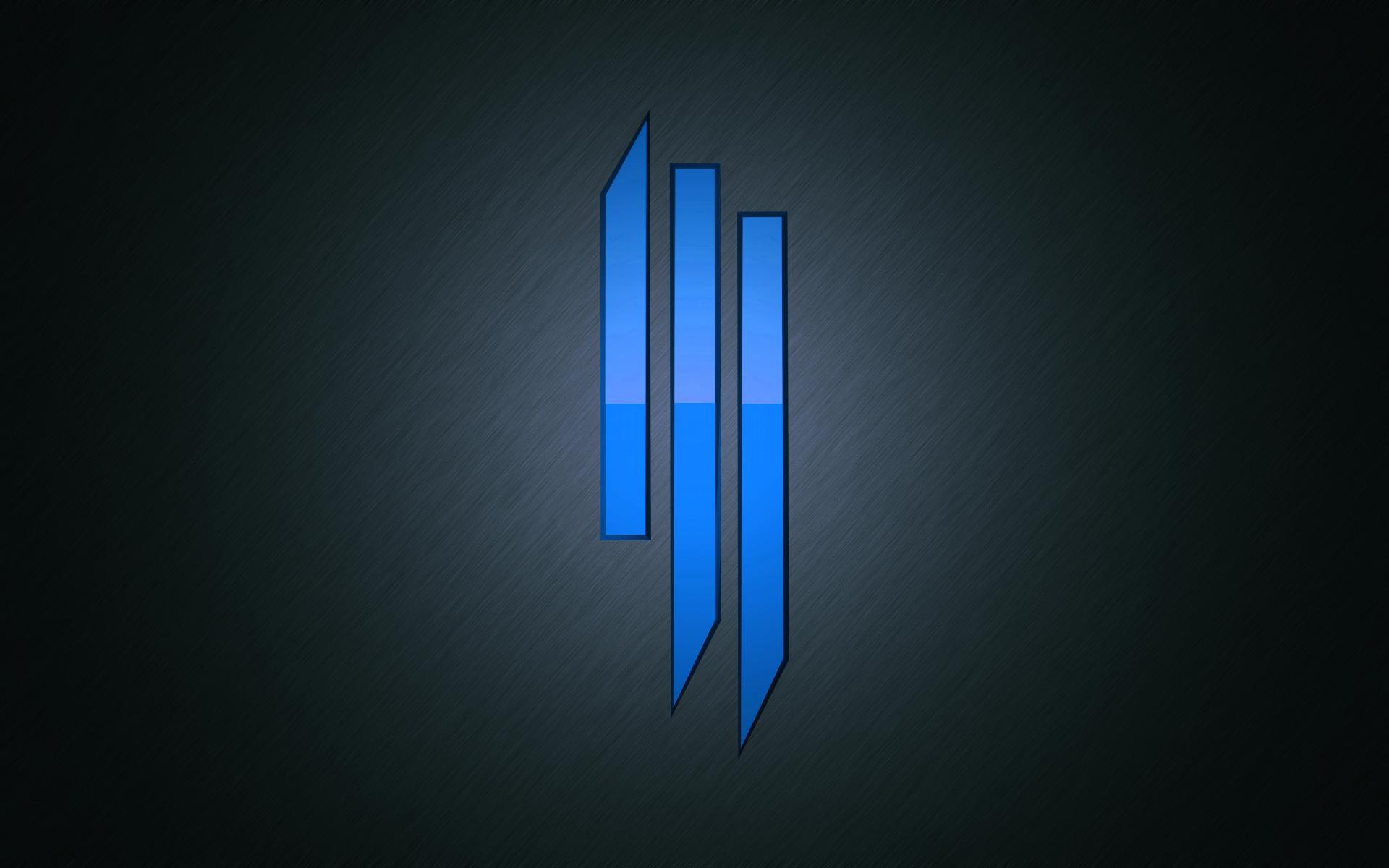 Skrillex Logo Blue 4