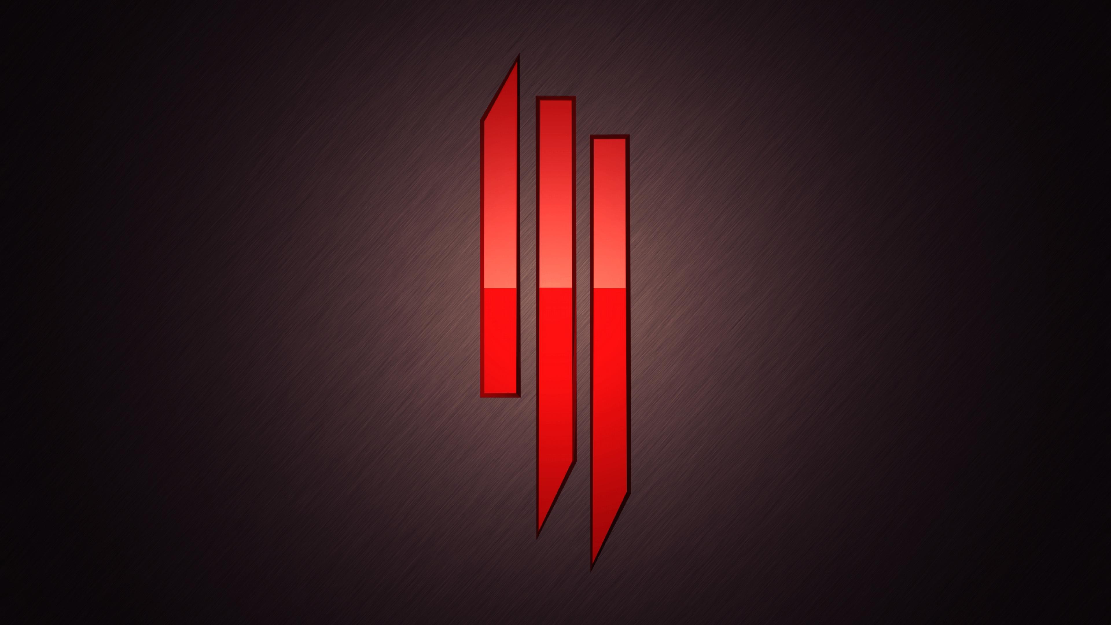 Skrillex Symbol Red 2