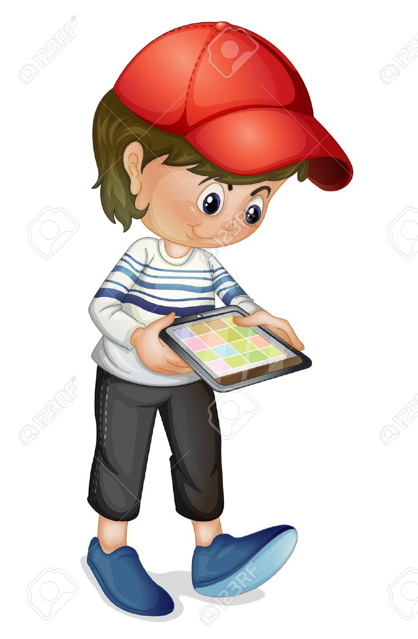Tablet Clipart For Kids