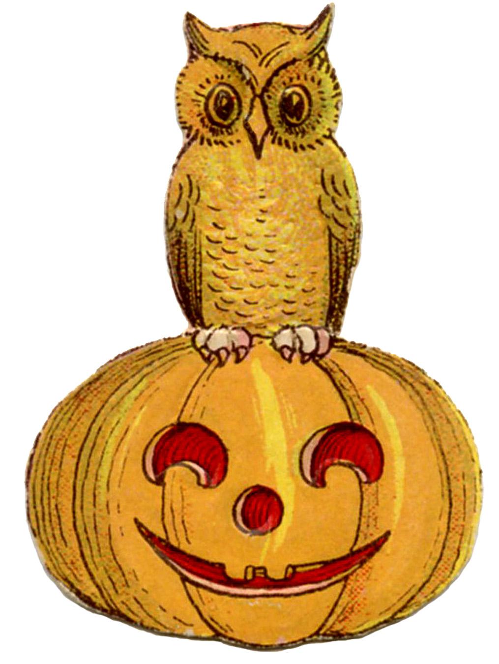 Antique Halloween Clip Art