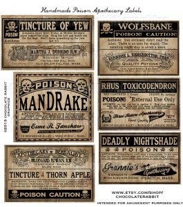 Apothecary Labels Halloween Clip Art2 265×300