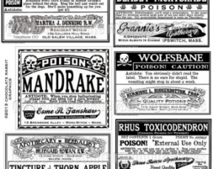 Apothecary Labels Halloween Clip Art4 300×238